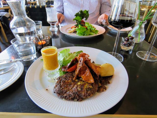 Vegetarian dinner at AALTO Bistro in Reykjavik Iceland