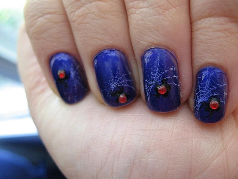 Moondancerjen's Nails: Halloween Week Day 4: Spider Web Nails