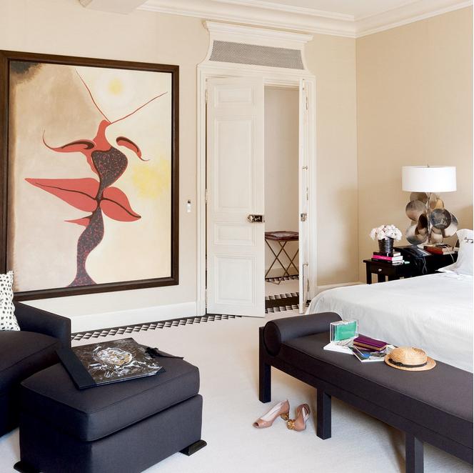 Lauren Santo Domingo Paris Apartment Home Designed By Francois Catroux Bedroom Via Belle Vivir Blog