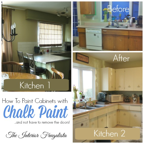 Chalk painted cabinets in Kitchen 1 and Kitchen 2