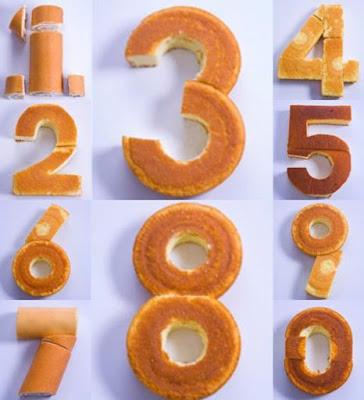 Como fazer bolo de números