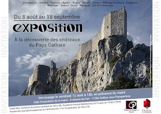 Exposition à Duilhac sous Peyrepertuse sur les châteaux du Pays Cathare