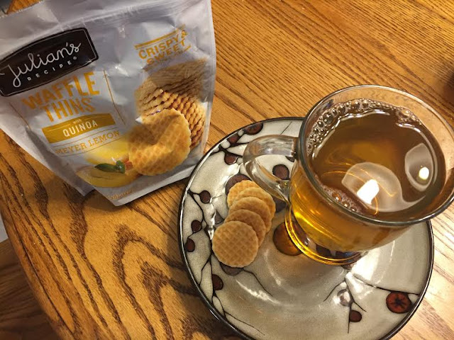 Julian's Recipe Quinoa Waffle Thins and Tea