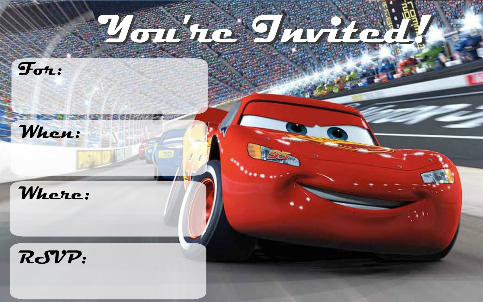 Musings of an Average Mom: Cars 3: Free Printable Invitations