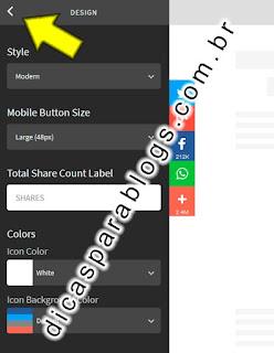 personalizar botões do Addthis
