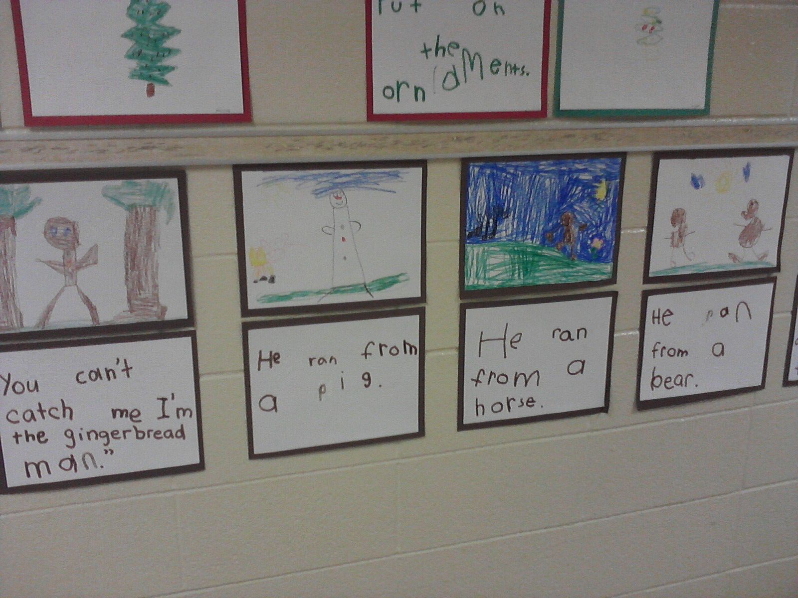 Mrs Egley S Kindergarten Gingerbread Man Wall Story