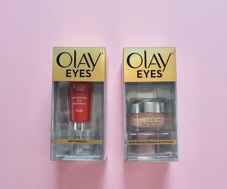 Olay Pro Retinol Eye Treatment And Ultimate Eye Cream Review
