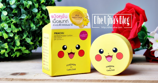[Review] Catty Doll PIKACHU AA Matte Powder Cushion Oil Control SPF 50 PA+++ #24 Medium Beige