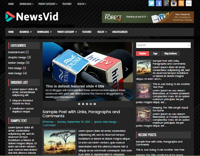NewsVid blogger template