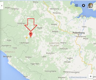 peta Kabupaten Musi rawas Sumatera selatan