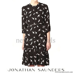 Kate Middleton wore Jonathan Saunders collection Printed dress