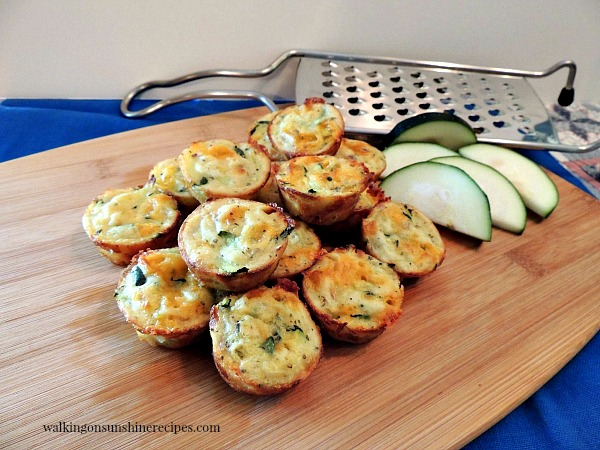 Zucchini Puffs are lighter than muffins from Walking on Sunshine Recipes