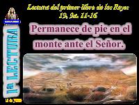 Resultado de imagen para En aquellos días, cuando Elías llegó al Horeb, el monte de Dios