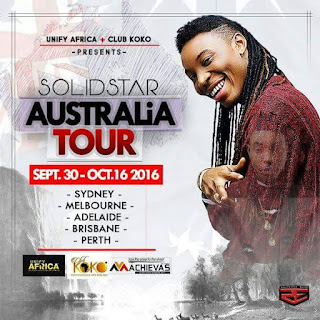 Solidstar has announced plans and destinations for his upcoming Australian tour