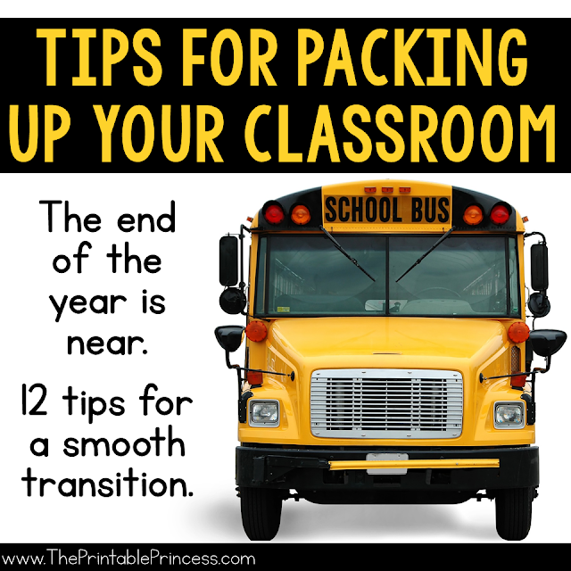 From one teacher to another, helpful tips to get you ready for summer! The end of the school year can be stressful. There is so much to do and so little time. But with a little planning you can easily get your classroom ready for summer with little to NO stress.