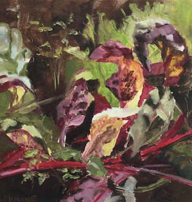 """""""Beets"""", plein air oil painting by painter Philine van der Vegte"""