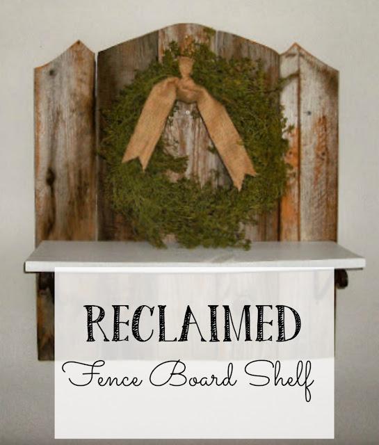 reclaimed fence board shelf