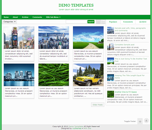 Gremble Green Blogger Template