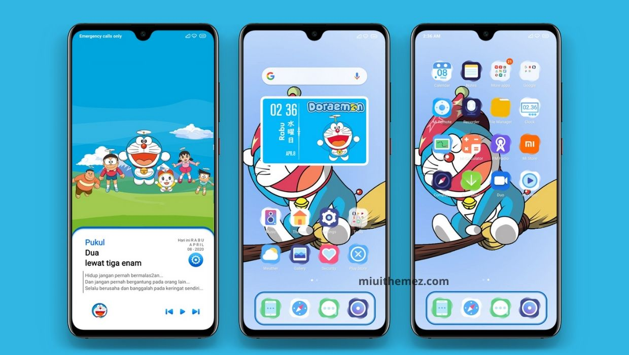 Doraemon Theme for Xiaomi Devices