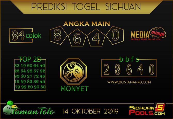 Prediksi Togel SICHUAN TAMAN TOTO 14 OKTOBER 2019