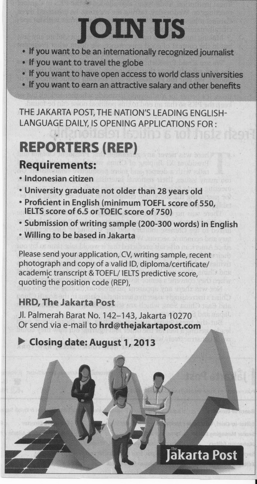 contoh job vacancy application letter dan cv