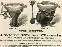 WM Smith Patent Water Closets