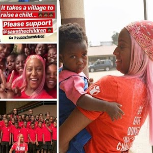 Billionaire Daughter DJ Cuppy Using Her Foundation To Help Lagos Kids.