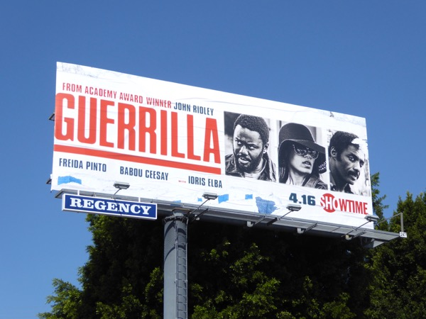 Guerrilla series premiere billboard