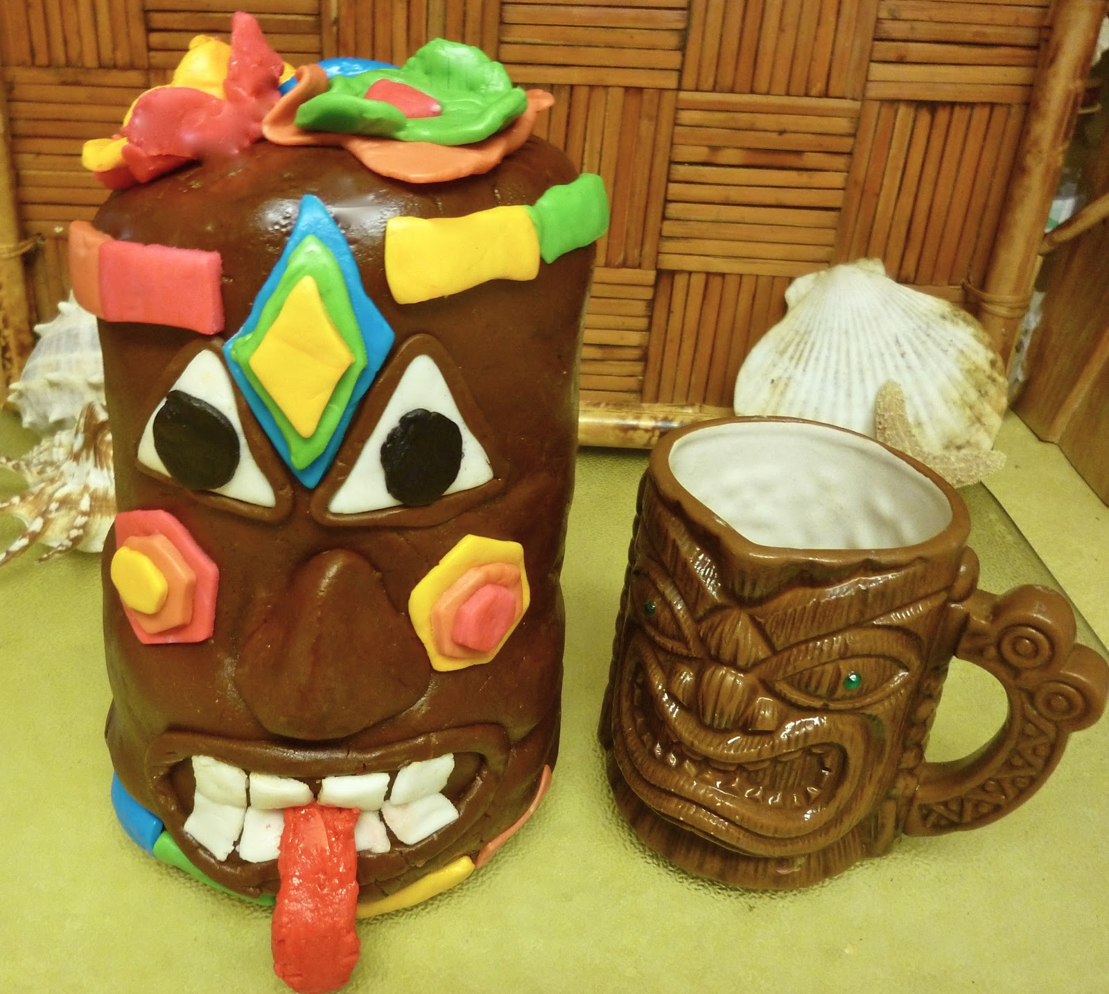 Terrific A Tiki Birthday Cake Diary Of A Mad Hausfrau Funny Birthday Cards Online Elaedamsfinfo