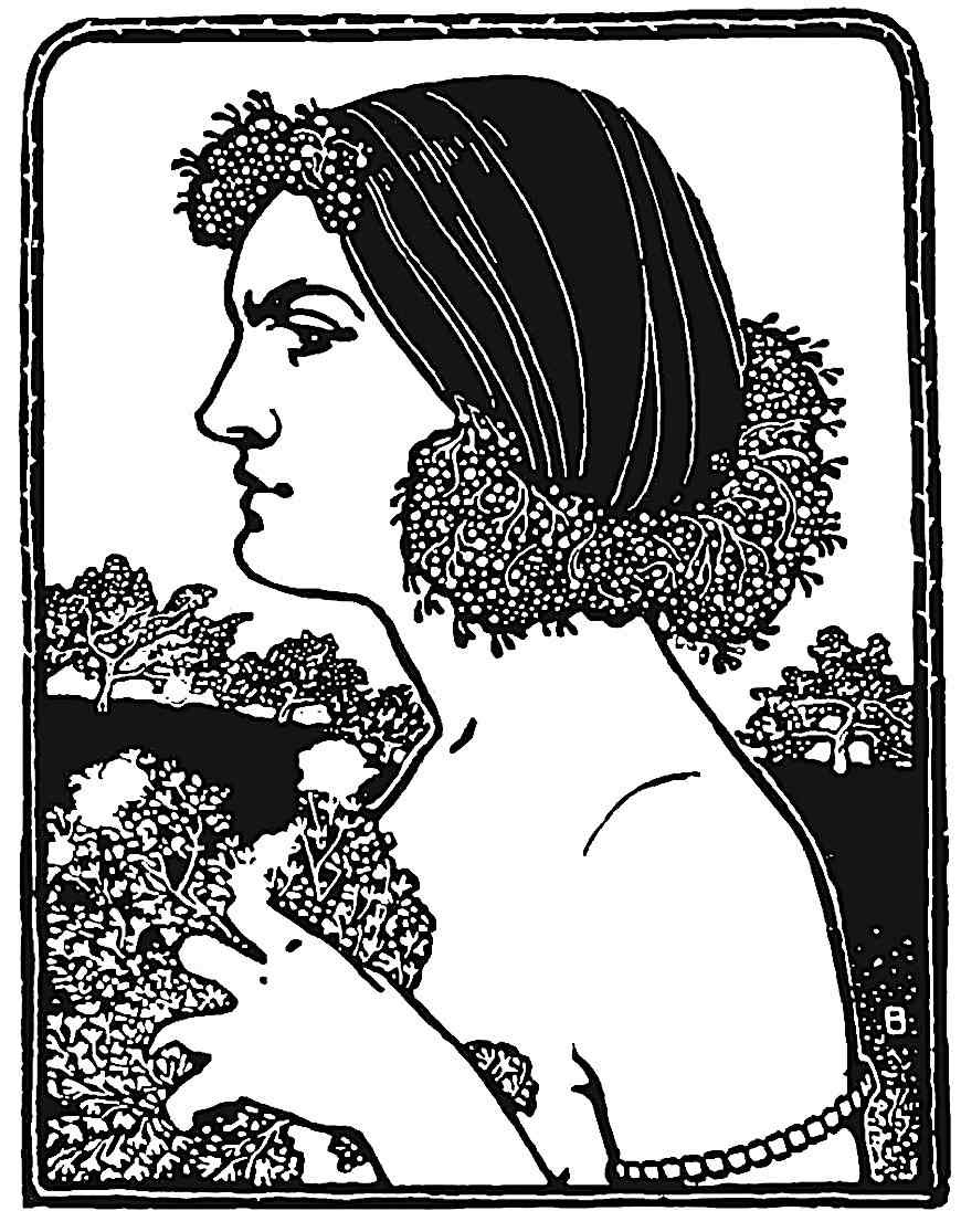 a 1901 German illustration of a sneering woman