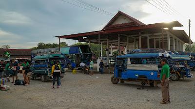 Arriving at Luang Prabang's north bus station