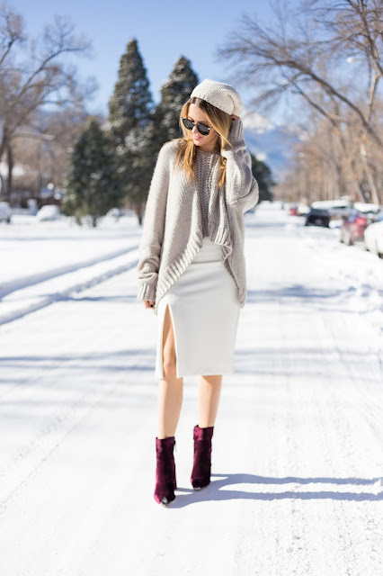 oversized-sweater-pencil-skirt-velvet-booties