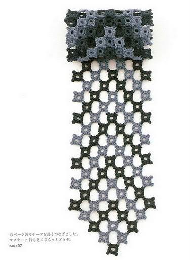 Bufanda de Crochet de Rombos