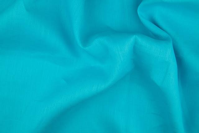 Aqua Handkerchief LinenFabric