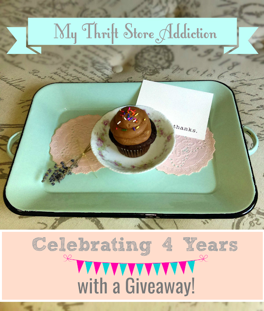 My Thrift Store Addiction blogiversary and giveaway
