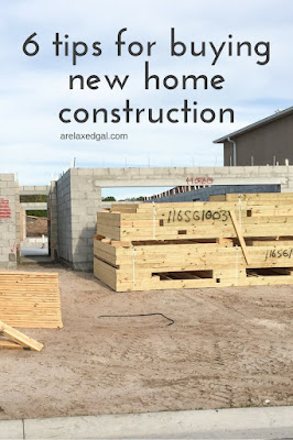 If you're looking to buy a home and are considering going new instead of existing, check out my six tips for buying new home construction.| arelaxedgal.com