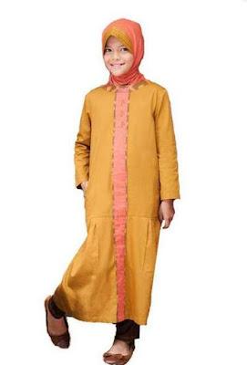 Baju anak perempuan muslim bahan maxi