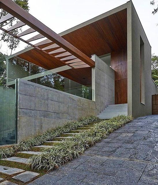 exterior rumah minimalis dengan canopy
