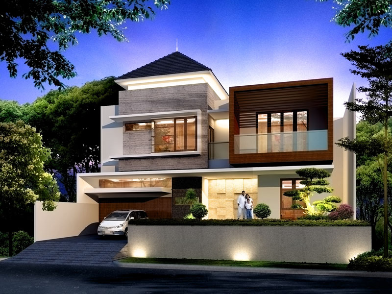 Desain Rumah Tingkat 2 Minimalis Modern  Architecture Design