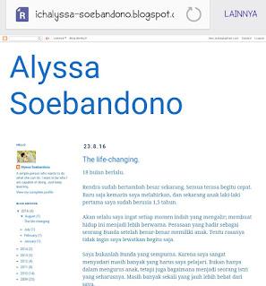Blog Alyssa Soebandono juga masih gratisan guys
