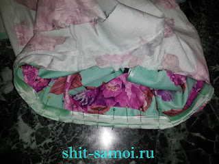 Обработка горловины платья с крылышками