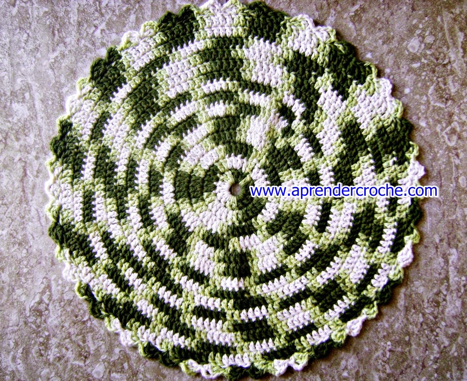 como fazer tapete de croche passo a passo iniciantes aprender croche com Edinir-Croche