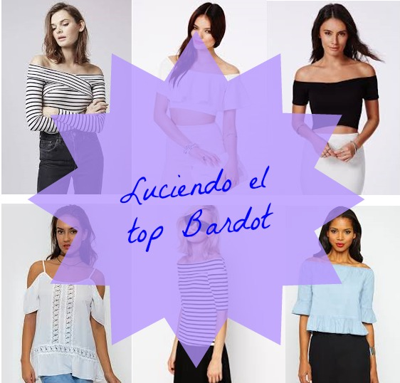 Luciendo el top Bardot