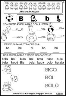Livro famílias silábicas letra B