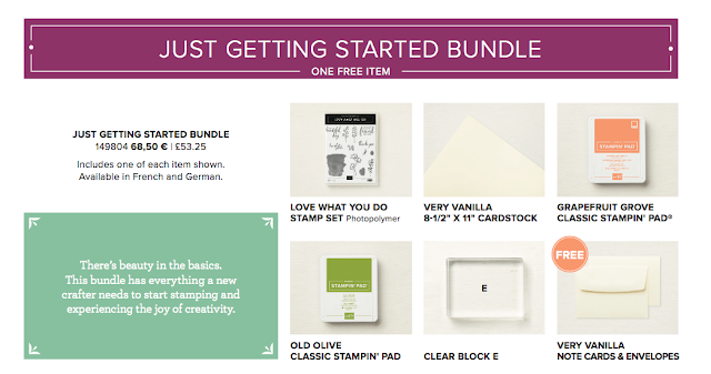 Just getting started Bundle from Share What You Love Suite Stampin' Up!