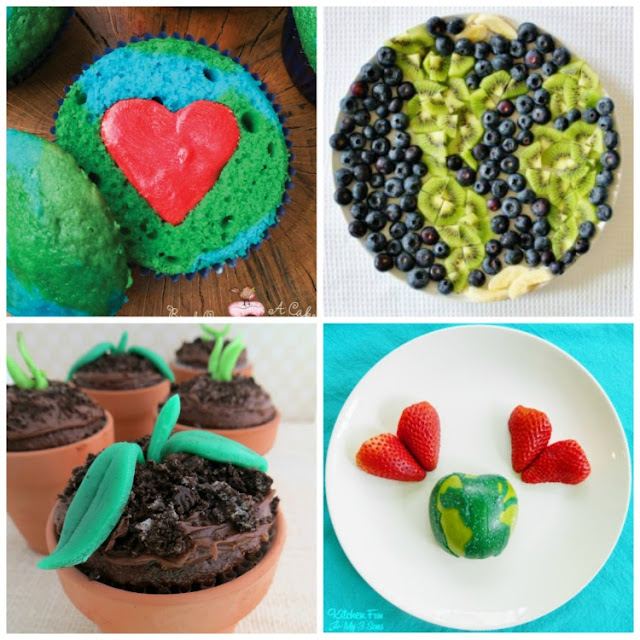 20 Earth Day Snacks for Kids! Fun choices for toddlers, preschoolers, older kids, and adults! Cookies, cupcakes, fruit, healthy choices, and more!