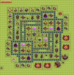Base Clash of Clans Terbaik TH 10 Farming