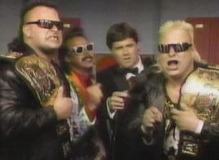 WWF / WWE: Summerslam 1991 -  The Nasty Boys defended the WWF tag team titles against Legion of Doom