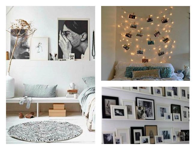 fotos con cuerdas y guirnaldas, fotos con marcos, composiciones de marcos