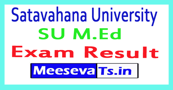 Satavahana University SU M.Ed Exam Time Table